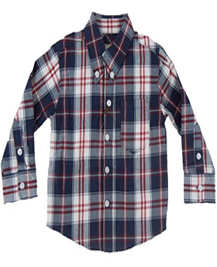 Baby Boy Patterns Plaid Buttoned Shirt by Tom & Drew