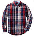 Boys Plaid Buttoned Down by Tommy Hilfiger