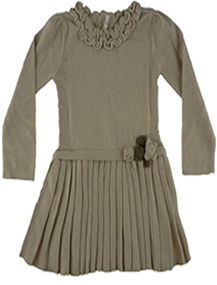 Girl's Light Brown Sweater Dress Outfit by Mayoral