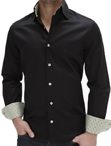 Mens Black Shirt Outfit by Stone Rose