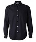 Mens Black Shirt Outfit Button Down by UltraClub