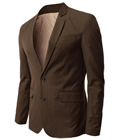 Mens H2H Brown Blazer with Jeans Look
