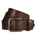 Mens 100% Leather Brown Belt with Jeans