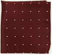 Mens Silk Burgundy Blazer Pocket Square