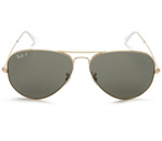 Women's Black and Gold Ray Ban RB3025 Sunglasses