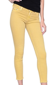 Women's True Relgion Yellow Skinny Jean Outfits
