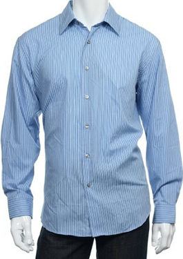Mens Light Blue Buttoned Shirt by Van Heusen