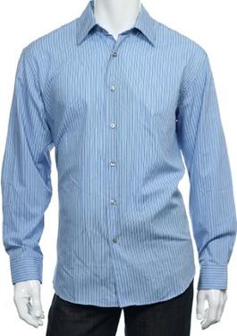 Mens Light Blue Buttoned Shirt by Van Heusen