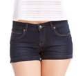Womens Dark Blue Shorts by 2b bebe