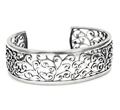 Womens Sterling Silver Cuff Bangles