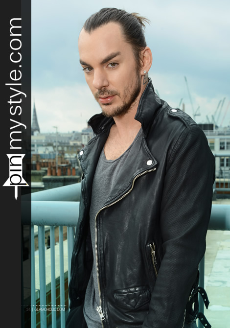 Shannon Leto Mens Black Leather Cool Biker Style Jacket Outfit