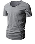 Mens Gray T Shirt by H2H
