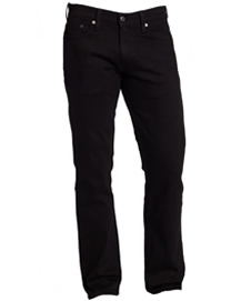 Mens Black Straight Leg Jeans with Zipper by Levis