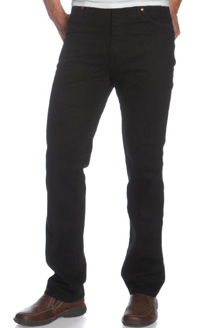Mens Black Wrangler Jeans