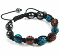 Womens Turquoise Brown Beads Bracelet