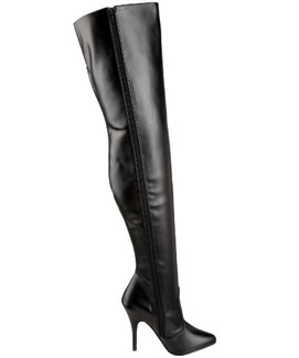 Womens Long Black Boots by Pleaser