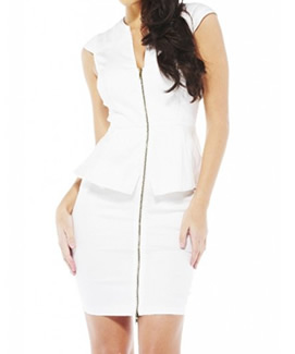 Elegant White Zip Dress by Armani Exchange