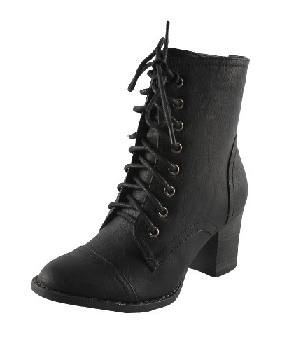 Pin My StyleWomens Black and White Combat Boots Outfits with High