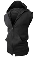 Women's Hoody Zip Up Jacket Vest by H2H