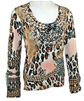 Womens Leopard Fashion Top by Cyrus Knits