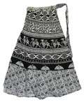 Womens Patterned Maxi Skirt by Yoga Trendz