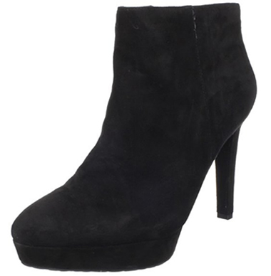 Black Suede Rockport Janae Ankle Bootie with Heels