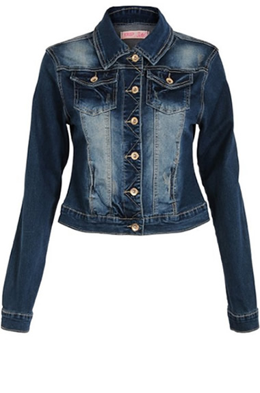Women's Dark Denim Jean Jacket Outfit Style