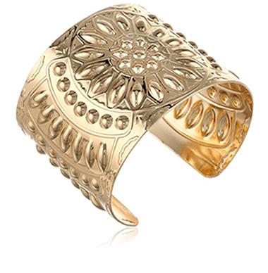 Steve Madden Gold Flower Cuff Bracelet