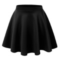 Womens black flared skirt