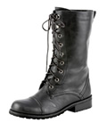 Womens Black Combat Boots Outfits